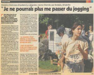 """20110302_SudPresse_""""Je ne pourrais plus me passer du jogging"""""""