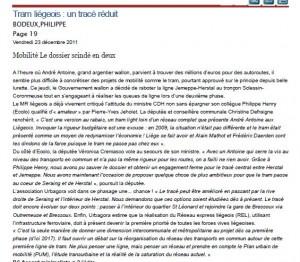 un article de Philippe Bodeux à lire sur le site du Soir ce 23/12/11