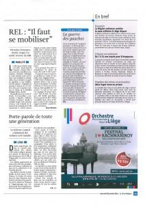Un article de Bruno Boutsen dans La Libre du 30/01/13
