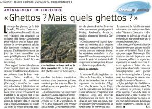 Un article de Pascale Serat à lire dans L'Avenir du 22/03/13