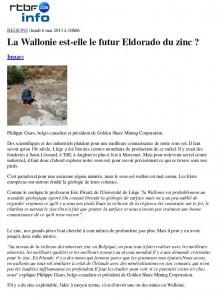 Un article de François Braibant à lire sur le site de la RTBF