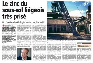 Un article de Gaspard Grosjean à lire dans La Meuse du 16/05/2013