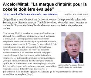 20130625 ArcelorMittal_ _La marque d'intérêt pour la cokerie doit être évaluée