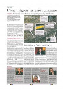 Un article de Joël Matriche dans Le Soir du 25/01/13