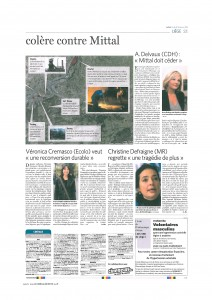 Un article de Joël Matriche à lire dans Le Soir du 25/01/13